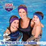 Mack's Ear Band Swimming Headband – Best Swimmer's Headband – Doctor Recommended to Keep Water Out and Earplugs in