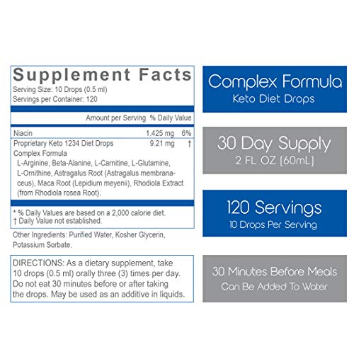 1234 Keto Diet Drops Weight Loss for Women & Men - 3X Keto Complex - Intermittent Fasting Book & Ketogenic Weight Loss Plan by Creative Bioscience, 2 Fl Oz (4 Count) 5