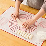 GREENRAIN Extra Large Silicone Pastry Mat Non Stick Baking Mat with Measurement Fondant Mat, Counter Mat, Dough Rolling Mat, Oven Liner, Pie Crust Mat (XXL-24''(W)32''(L))