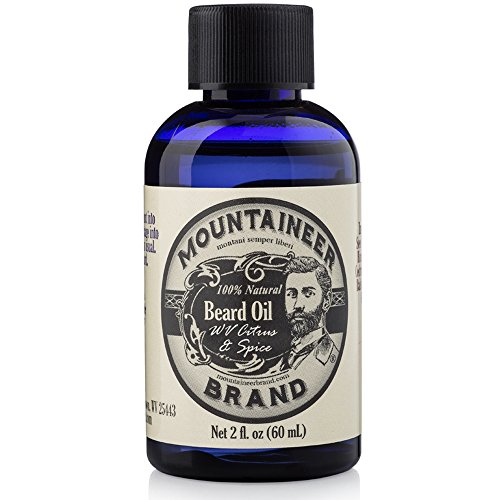 Beard Oil by Mountaineer Brand: WV Citrus & Spice. Beard Conditioning Oil, 2 Ounce Bottle by Mountaineer Brand