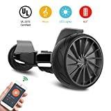 City Cruiser Hoverboard,Electric Racing Tires Smart Self Balancing Scooter Hoverboard, Built-in Bluetooth Speakers - UL2272 Certified Black White