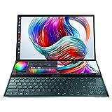ASUS ZenBook Pro Duo Intel Core i9-10980HK 10th Gen 15.6' (39.62 cm) 4K UHD OLED Touchscreen Laptop (32GB RAM/1TB NVMe SSD/Windows 10/6GB NVIDIA GeForce RTX 2060 Graphics/Blue/2.5 Kg) UX581LV-H2035T