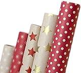 Papier cadeau rétro I A1250 I Papier cadeaux Anniversaires, mariages ou comme...