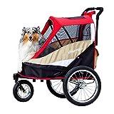 ibiyaya 2-in-1 Heavy Duty Dog Stroller/Pull Behind Bike Trailer for Medium & Large Dogs