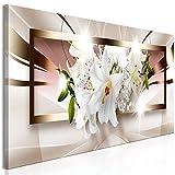 murando Cuadro en Lienzo Flores Lirios 120x40 cm 1 Parte impresión en Material Tejido no Tejido...