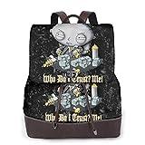 Yuanmeiju Family Guy Womens Mochila de Cuero Multifunction College School Laptop Bookbag