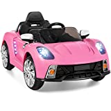 Best Choice Products Kids 12V Electric RC Ride On w/ 2 Speeds, LED Lights, MP3, AUX, Pink