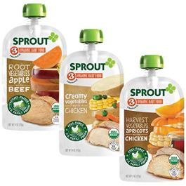 Sprout Organic Baby Food Pouches Stage 3 Meat Variety Pack