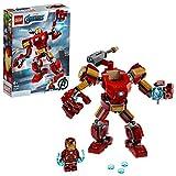 LEGO Super Heroes Avengers, Iron Man Mech, Set di Costruzioni Ricco di Dettagli per Bambini 6+ Anni, le Braccia e le Gambe Articolate Consentono una...