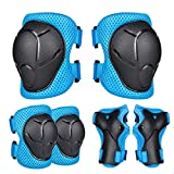 Ninonly Knee Pads for Kids, Protective Gear Set for Kids 3-8 Years Old Boys Knee Pads Elbow Pads Wrist Guards for Skateboarding Roller Skating Cycling Bike BMX Bicycle Scooter Rollerblading - Blue