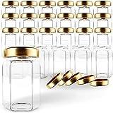 Gojars Hexagon Glass Jars 4oz Premium Food-grade. Mini Jars With Lids...