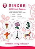 SINGER 3,900 Digitized Embroidery Designs, 21 Design Fonts, and 11 Lettering Styles