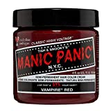 Manic Panic Vampire Red Hair Dye - Classic High Voltage - Semi Permanent Hair Color - Deep Blood Red Shade With Burgundy Tones - For Dark & Light Hair - Vegan, PPD & Ammonia-Free - For Coloring Hair