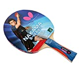 Butterfly Nakama S-8 Table Tennis Racket – Professional ITTF Approved Ping Pong Paddle – Flextra Table Tennis Rubber and Thick Sponge Layer Ping Pong Racket – 2 Ping Pong Balls Included