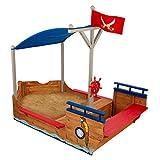 KidKraft 128 Piratenschiff Sandkasten aus Holz Gartenmöbel für Kinder