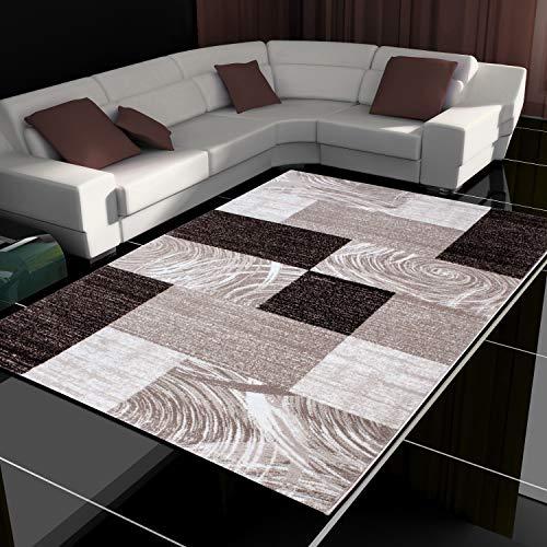 Tappeto moderno design patchwork a pelo corto soggiorno diversi colori e misure, Polipropilene,...