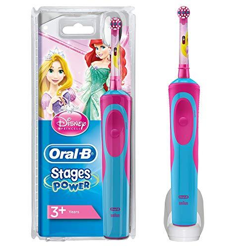 Oral-B Stages Power Spazzolino Elettrico Ricaricabile per Bambini con Principesse Disney, con 1 Manico e 1 Testina, Versione Vecchia