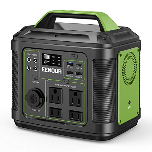 EENOUR ポータブル電源 P302 大容量 蓄電池 80000mAh/296Wh AC(300W 瞬間最大600W)/DC/USB出力 純正弦波 4W...