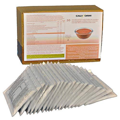 CALYFORM Natillas proteicas para dieta sabor Chocolate y Pera  100% saciante   Proteína en polvo para preparar natillas de calidad y aporte en aminoácidos esenciales (20 sobres)