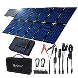 TP-solar 100W Foldable Solar Panel Charger Kit for Portable Generator Power Station Smartphones Laptop Car Boat RV Trailer 12v Battery Charging (Dual 5V USB & 19V DC Output)