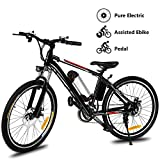 Yiilove Electric Bike for Adult 26'' Mountain Electric Bicycle Ebike 36V Removable Lithium Battery...