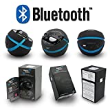 Portable Bluetooth Vibration Speaker By Mighty Dwarf - 10W Mini Wireless Speaker For Indoors Or Outdoors - Bluetooth 2.1, Lightweight(10 oz), USB Power Supply - 32.8 Ft Range - Shockingly Rich Audio - Best Support