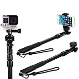 CAPTAIN FLOATY Selfie Stick, The Best Waterproof Monopod Selfie Stick for iPhone 6 - for GoPro Hero 4, Session, Black, Silver, Hero+ LCD, 3+, 2, 1 (All-Weather Edition - No Bluetooth)