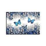 zzlfn3lv Lienzo Pintura Arte de la Pared Impresin Cartel Sin Marco Mariposa Azul y Blanco Gypsophila Paniculata Imagen Decoracin del hogar 1 50 * 70cm