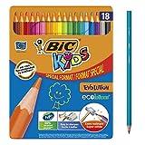 BIC Kids Evolution ECOlutions Crayons de Couleur - Coloris Assortis, Boîte...