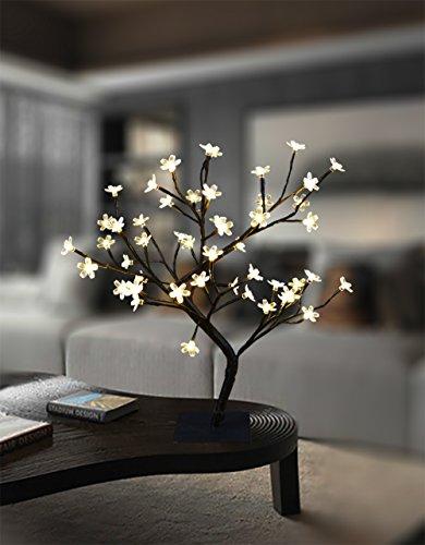 Lightshare 18 Inch Cherry Blossom Bonsai Tree, 48 LED Lights, 24V...