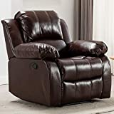 Bonzy Home Air Leather Recliner Chair Overstuffed Heavy Duty Recliner - Faux Leather Home Theater...
