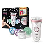 Braun Silk-épil 9 9/990 SkinSpa SensoSmart Epilierer, für Damen mit...