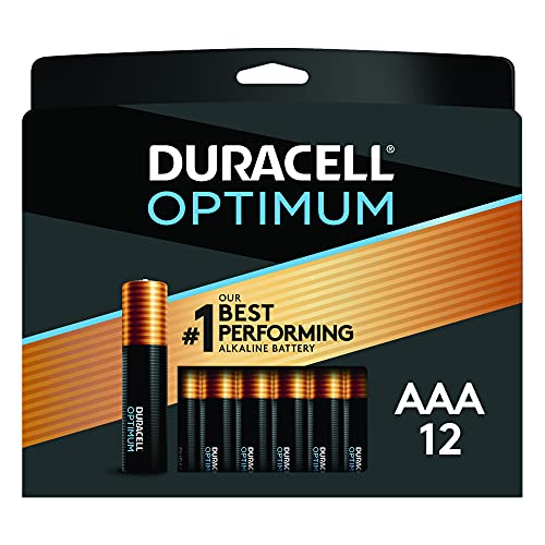 Duracell Optimum AAA Batteries | 12 Count Pack | Lasting Power Triple A Battery | Alkaline AAA…