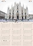 【令和】大型ポスターカレンダー 大判A2サイズ 60×42㎝ イタリア ミラノ DUOMO 4月始まり1年間 六曜付 改元記念 贈り物 就職 新学期 平成31年4月~令和2年3月