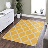 Silk Road Concepts Collection Contemporary Rugs, 3'3' x 5', Yellow