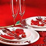 Flor de Rosa roja con Borde de Oro de 24 k, Tallo Largo Love Forever Flor de...