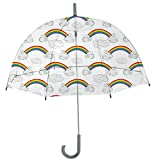 Rainbrella Kids Sky Collection Rainbows Umbrella, Clear
