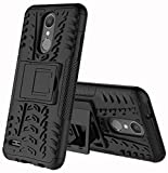 LG Zone 4 Case,LG Aristo 2/3, LG Phoenix 4, LG Tribute Empire/Dynasty SP200,LG Fortune 2,LG Risio 3,LG K8 (2018) Case,Yiakeng Wallet Hard Protective Flip Phone Cases with A Kickstand (Black)