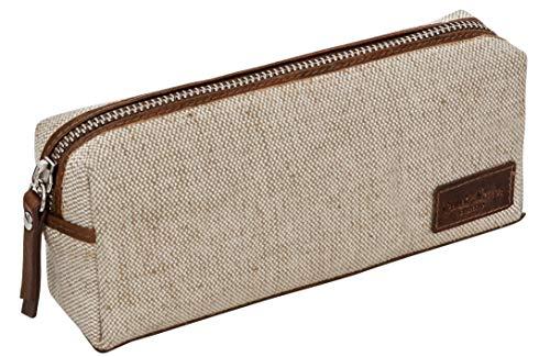 Astuccio di pelle porta penne di Gusti Leder - portacolori Franklin portapenne in pelle marrone