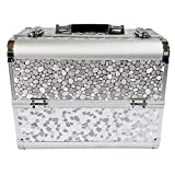 genral Makeup Box Cosmetics Case Vanity Case Jewelry Organiser Nail Box 3-Layer Storage Box Double Open Portable Cosmetic Luggage
