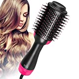 Hair Dryer and Volumizer, szwintec Hair Dryer Brush 3 in 1 Hot Air Brush Anti-scald Negative Ion Hair Straightener Brush Comb Curler Styler for All Hair Types