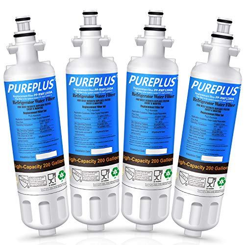 PUREPLUS 469690 Water Filter Replacement for LG LT700P, ADQ36006102 Kenmore Elite 9690, ADQ36006101, RWF1052, RWF1200A, LFXS30766S, LFX28968ST, LFX31925ST, LFX31945ST, LFXS29626S Refrigerator, 4PACK