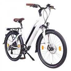 "NCM Milano Bicicletta elettrica da Trekking, 250W, Batteria 48V 13Ah 624Wh (Bianco 26"")"