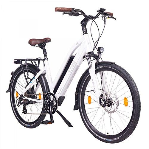 NCM Milano Bicicletta elettrica da Trekking, 250W, Batería 48V 13Ah 624Wh 26' Bianco