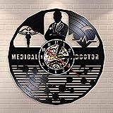 fdgdfgd Classic CD Record Hospital's Doctor Office Reloj con Disco de Vinilo año Nuevo