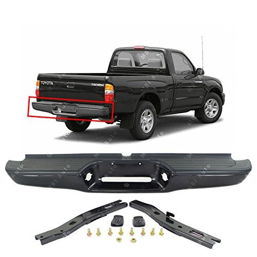 MBI AUTO - Primered Steel, Complete Rear Bumper Assembly for 1995-2004 Toyota Tacoma Pickup 95-04, TO1102214