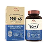 PRO45: #1 Clinical Grade Probiotic Formula, 45 Billion CFU, 11 Patented strains. Dairy Free. Delayed Release Veggie caps. Promotes Immune and Digestive Health. 30 Capsules