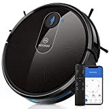 MOOSOO Robot Vacuum, Wi-Fi Connectivity, Self-Charging Ideal for Pet Hair, Carpets, Hard Floors 1800Pa Powerful Suction Robotic Vacuum Cleaner, 120 Min Runtime, Quiet, Electric Vacuum, MT-720
