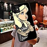 Ninetee Tattoos Princess Jasmines Punk Soft Case for iPhones 11 Pro Max Xs 7 8 Plus X XR XS Max Luxury Cute Cover (B5, for iPhone 7 8)