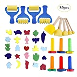 Waroomss 39PCS Set de Peinture Pour Enfants,Pinceau Eponge Graphique...